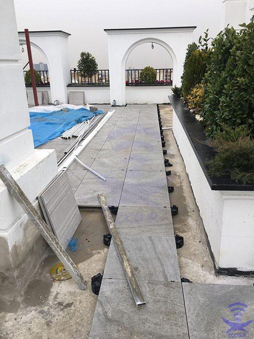 اجزای کف کاذب پشت بام